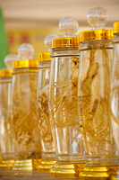 Row Bottled Ginseng Display