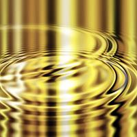 molten gold ripples