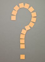 Question Mark made of Adhesive Notes