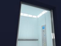 Modern Elevator Interior and Exterior