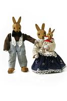 Toy rabbit family