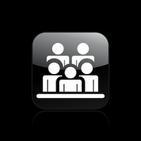 Vector illustration of isolated people group icon