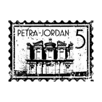 Vector illustration of isolated Jordan icon