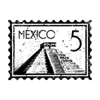 Vector illustration of single Mexico icon