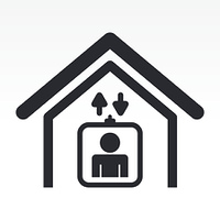 Vector illustration of single home elevator icon