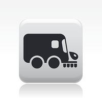 Vector illustration of single road cleaner icon