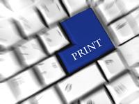 Print - enter sign
