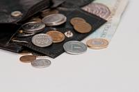 Polish money - zloty, banknotes, coins and wallet