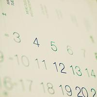 Retro look Calendar