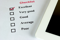 checklist and smartphone