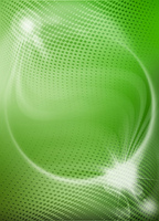 green abstract background with dots and lights