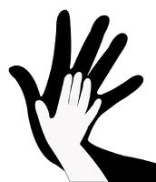 hands silhouette vector
