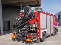 Fire truck with crane