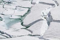Eisbruch am Bergsee