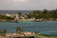 H?user auf einer kleinen Insel auf den Bahamas