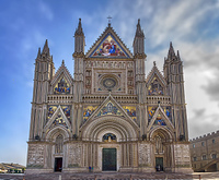 Fassade der Katedrale Santa Maria assunta in Orvieto