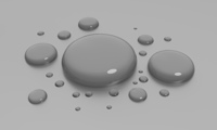 water drops on surface