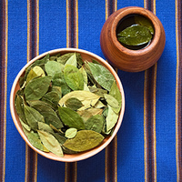Dried Coca Leaves and Tea
