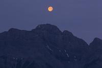 Morning Sunlight on Setting Full Moon