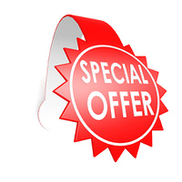 Special offer star label