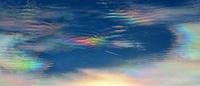 Wetterph?nomen, irisierende Wolken