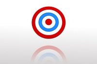 Digitally generated Blue and red target