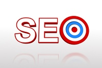 The word seo with target