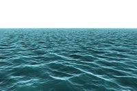 Digitally generated vast Blue ocean