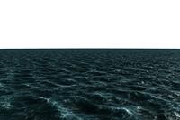 Digitally generated choppy Blue ocean