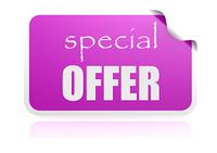 Special offer purple sticker