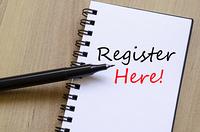 Register Here Concept
