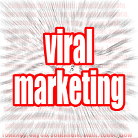 Viral marketing word cloud