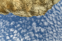 Sky, clouds and rocks