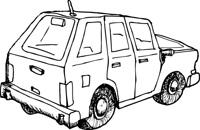 Outlined Car Sketch