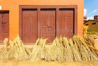 Nepal Bundled Straw After Harvest House H