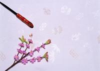 かんざしと花