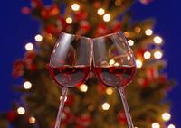 ワインとクリスマスツリー