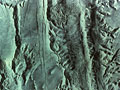 火星の地表(NASA提供)