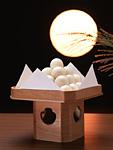 月見だんごと満月