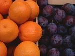 オレンジとプラム