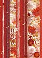 タイトル:四季草花縞柄