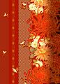 タイトル:縦縞菊づくし